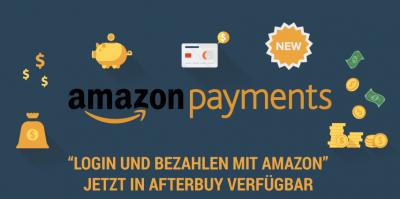 Mehr Akzeptanz und Conversion durch Amazon Payments jetzt im Afterbuy Shop