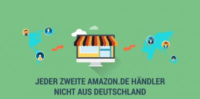 Gerade einmal jeder zweite Amazon Marktplatzhändler kommt aus Deutschland