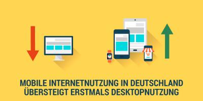 Umsatzwachstum durch Mobile – Mobile Nutzung des Internets übersteigt die Desktopnutzung