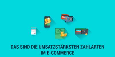 Umsatzstärkste Zahlarten im E-Commerce