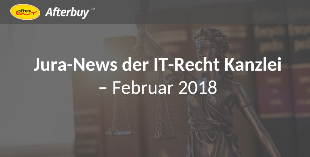 What's new: Jura-News im Februar 2018