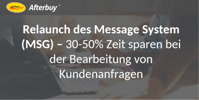 Relaunch des Afterbuy Message System (MSG)