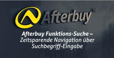 Schluss mit Menü-Klicken: Die neue Afterbuy Funktions-Suche findet jede Funktion