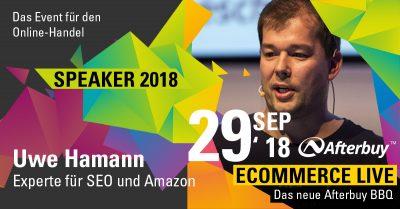 Speaker ECOMMERCE LIVE: Amazon-Experte Uwe Hamann