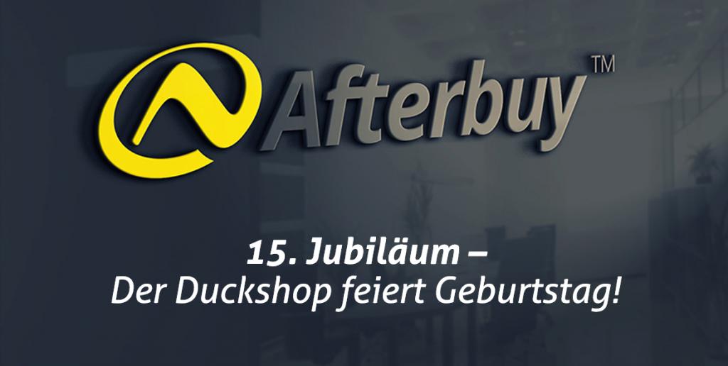 15 Jahre Duckshop – Afterbuy gratuliert!