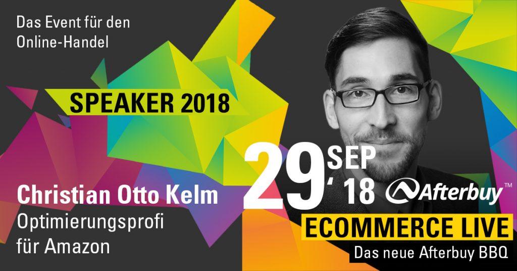 Speaker ECOMMERCE LIVE: Amazon-Experte Christian Otto Kelm
