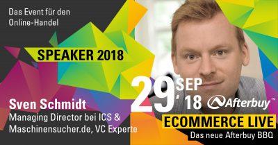 Speaker ECOMMERCE LIVE: Venture Capital Experte Sven Schmidt