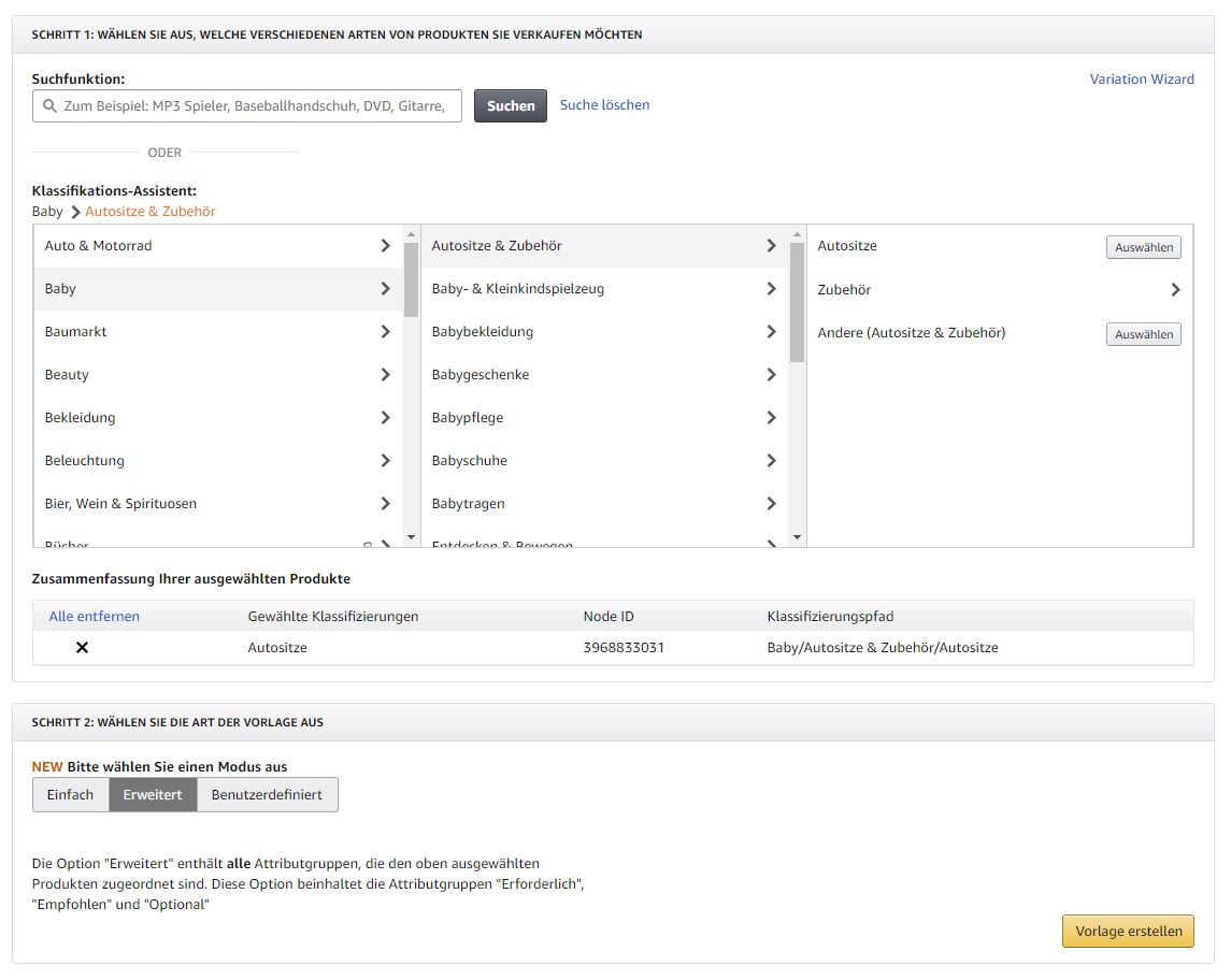 Amazon Lagerbestandsdatei erstellen