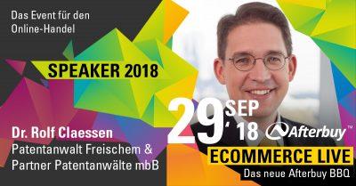 Speaker ECOMMERCE LIVE: Dr. Rolf Claessen