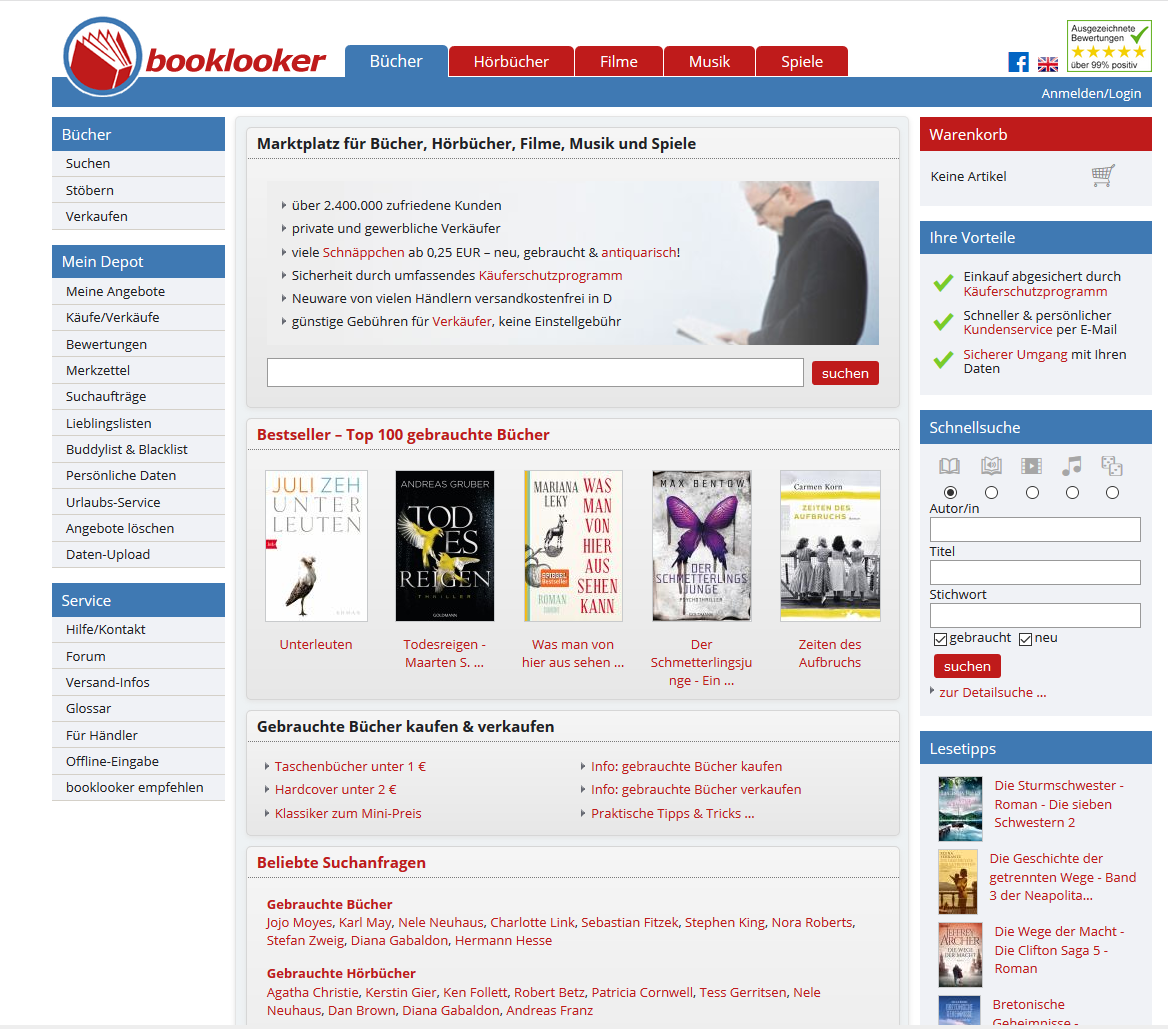 Ausschnitt Booklooker.de