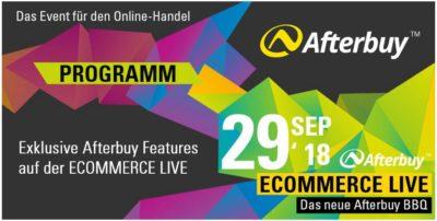 Exklusive Afterbuy Features für ECOMMERCE LIVE Besucher