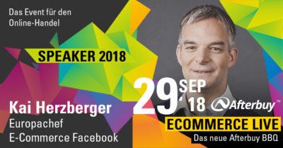 Speaker ECOMMERCE LIVE: Kai Herzberger – Die Zukunft des E-Commerce