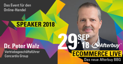 Speaker ECOMMERCE LIVE: Dr. Peter Walz – Zahlungsabwicklung im E-Commerce