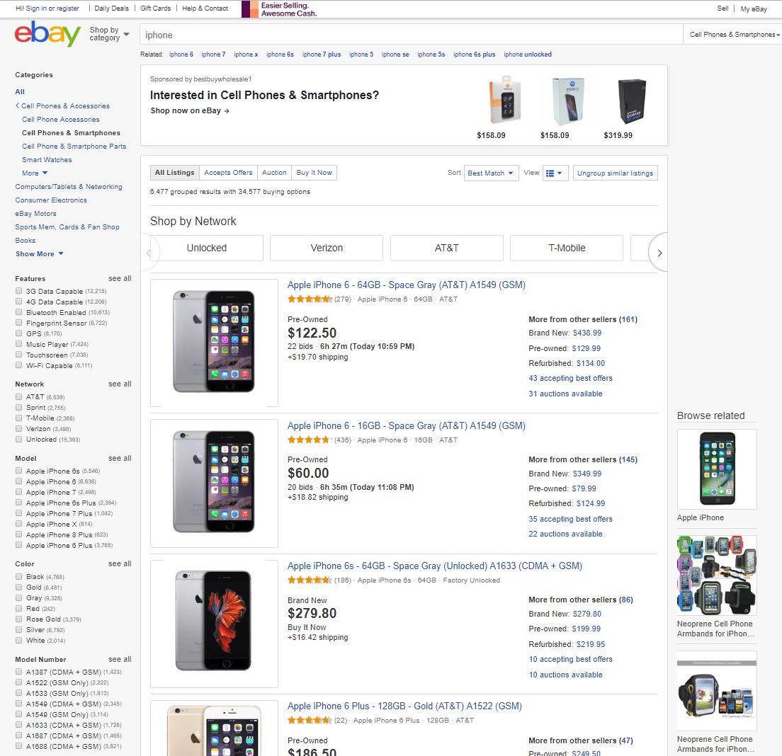 Zusammengefasste Listings nach der eBay PBSE