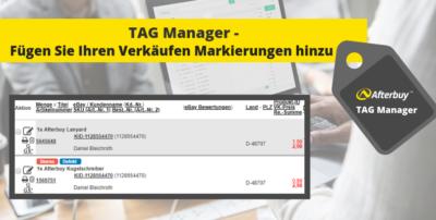 TAG Manager – Markieren Sie Ihre Produkte und Verkäufe