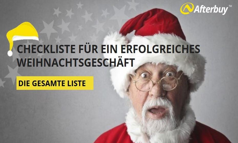 Ihre Checkliste für das Weihnachtsgeschäft