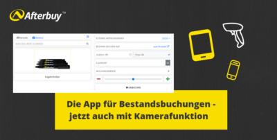 Scanner oder Kamera – Die App für Bestandsbuchungen jetzt mit neuen Funktionen