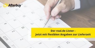 Flexible Lieferzeiten im real.de Lister