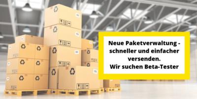 Produkte packen leichter gemacht mit der Paketverwaltung