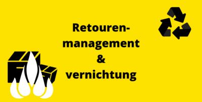 Infografik: Retourenmanagement und -vernichtung