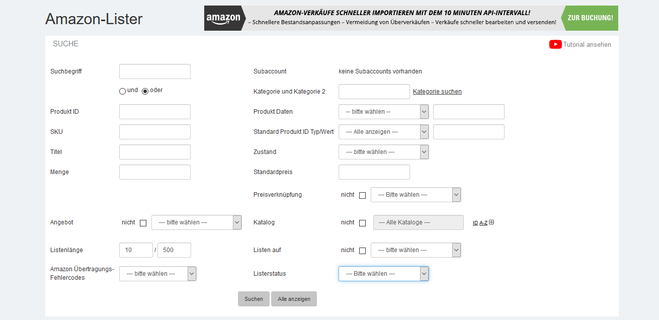 Amazon-Lister