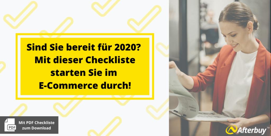 Sind Sie bereit für 2020? Mit dieser Checkliste starten Sie im E-Commerce durch!