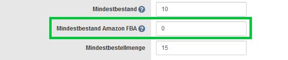 Mindestbestand Amazon FBA