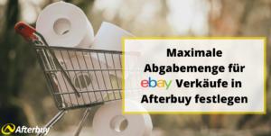 feste Abgabemenge für eBay Verkäufe