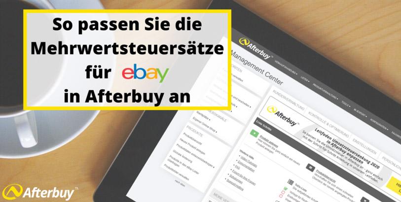 So passen Sie die Umsatzsteuer für eBay in Afterbuy an