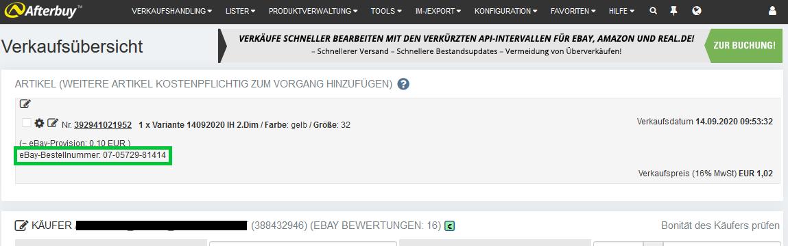 ebay Bestellnummer verkaufsdetails