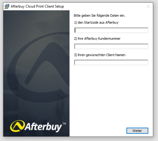 Afterbuy Cloud Print Installation
