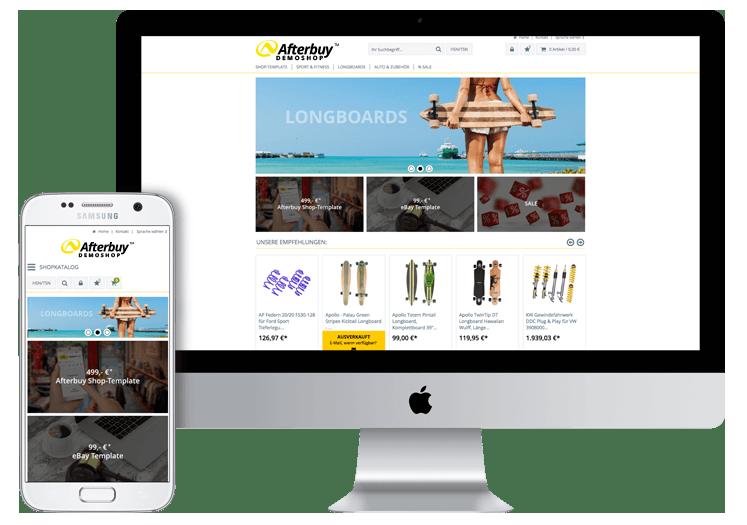 Afterbuy onlineshop themenwelten und responsives design