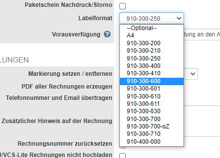 DHL Label-Formate